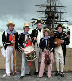 The NEw Scorpion band and HMS Victory